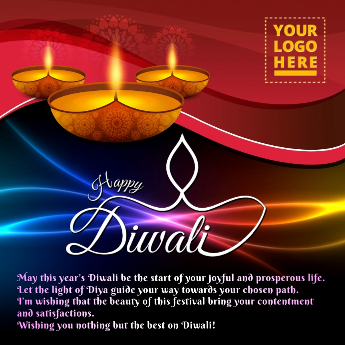 Diwali Template โพสต์บน Instagram