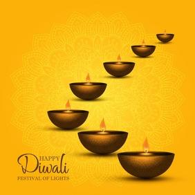 Diwali Template Square (1:1)
