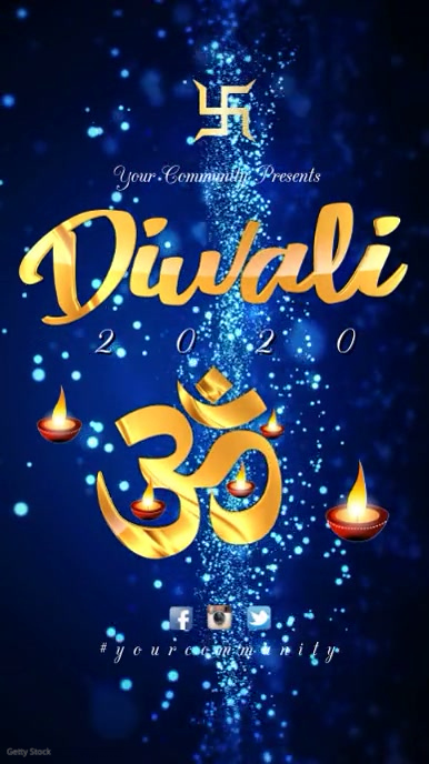 Diwali template Digitale Vertoning (9:16)