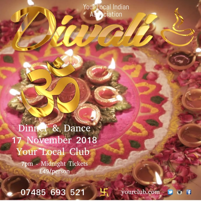 Diwali template Persegi (1:1)