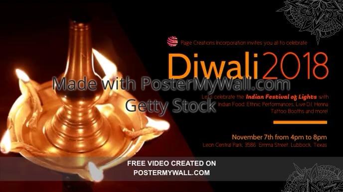 Diwali University Event Invitation Video Sample Template