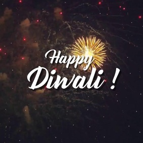 Diwali video greeting Quadrato (1:1) template