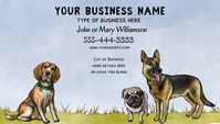 DIY Dog Related Business Card template