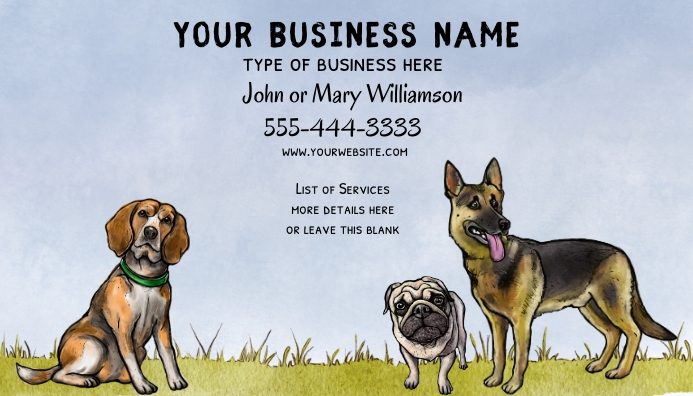 DIY Dog Related Business Card 名片 template