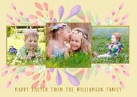 DIY Easter Photo 3 Template Postcard