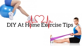 DIY Exercise Tips Blog Header template