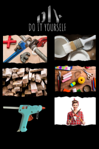 DIY Poster Pinterest Graphic template