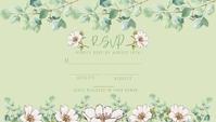 DIY WEDDING EUCALPTUS RSVP CARD template