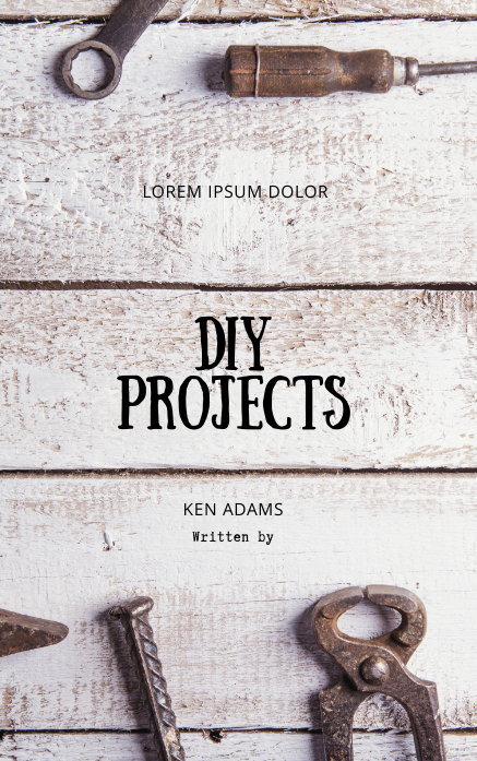DIY workshop tool book cover template Kindle/Book Covers
