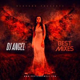 DJ Angel Mixes CD Cover Art Template Album Omslag