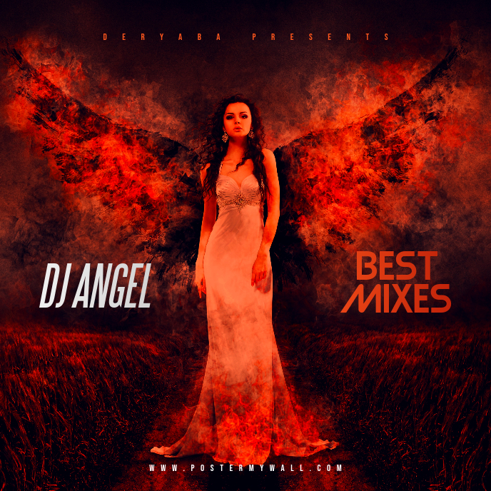 DJ Angel Mixes CD Cover Art Template Albumhoes
