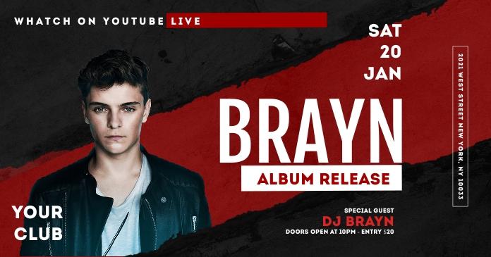 Dj Artist Event Flyer Facebook Template