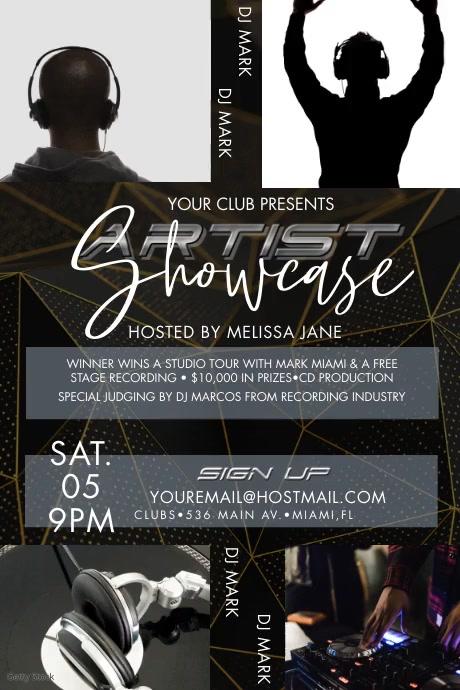 DJ Artist Showcase Event Poster Video template