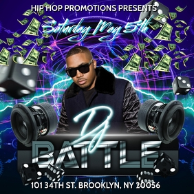 DJ BATTLE CLUB FLYER TEMPLATE