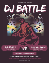 Dj Battle Contest Flyer Template
