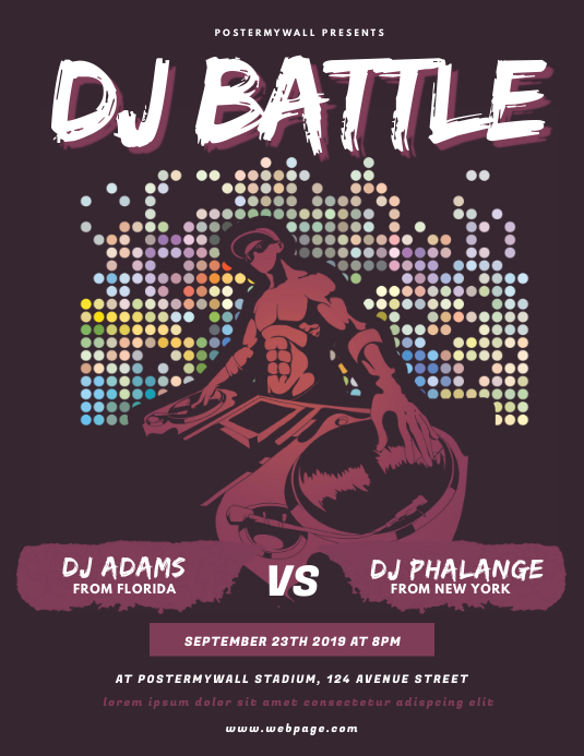 Dj Battle Contest Flyer Template