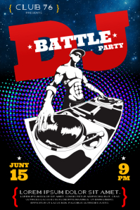 DJ BATTLE PARTY POSTER