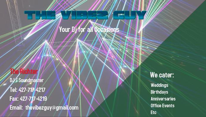 Dj Business Card Template Visitkort