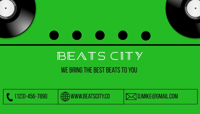 DJ Business Card Visitkort template