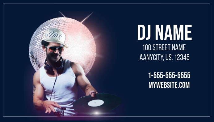 dj business card template postermywall