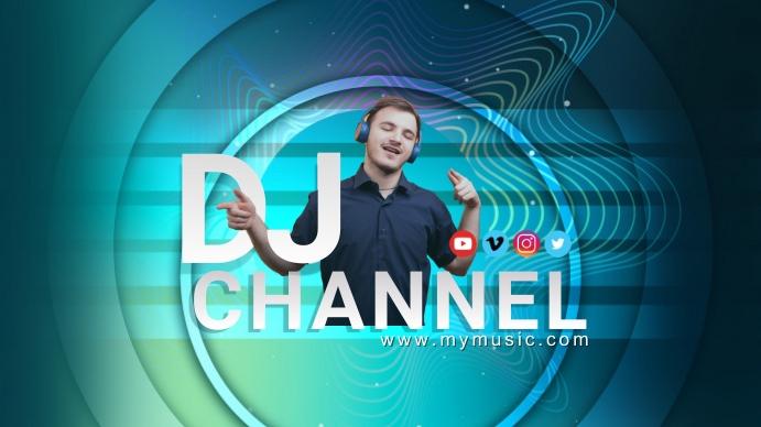 DJ CHANNEL Youtube Art template