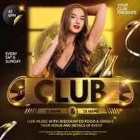 DJ club,girls night out,ladies night Post Instagram template