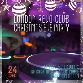 DJ Club Event Christmas Video Template