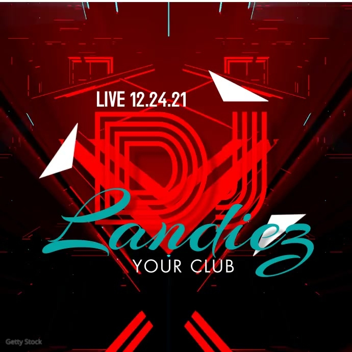DJ Club Event Flyer Ad Publicación de Instagram template