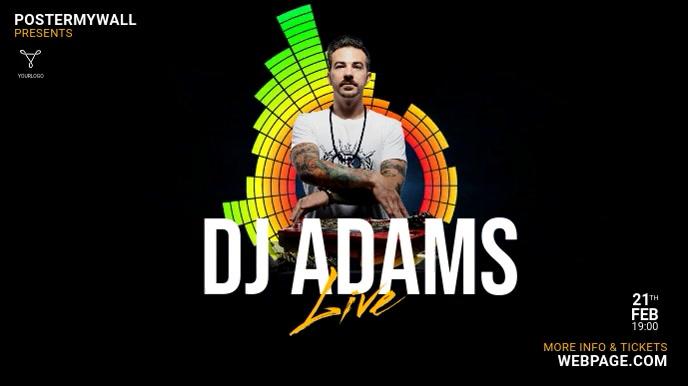 DJ Club Promotion Digital Display Template