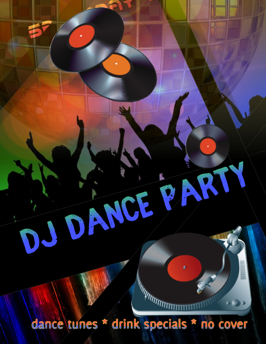 dj dance party Flyer Template