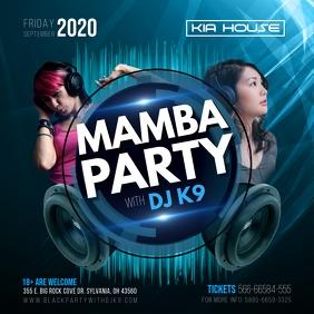 DJ Dance Party Noir Invitation Iphosti le-Instagram template