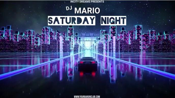 DJ Ecrã digital (16:9) template