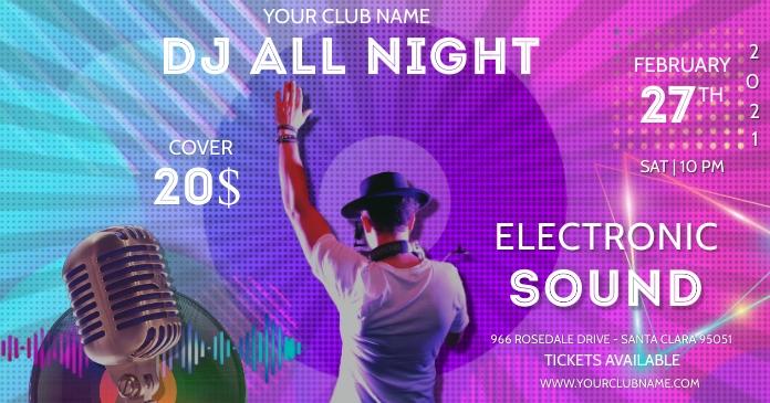 Youtube DJ & music banners Imagen Compartida en Facebook template
