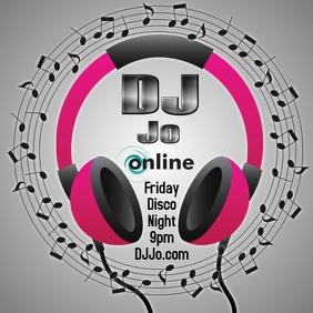 DJ Disc Jockey Online Publicación de Instagram template