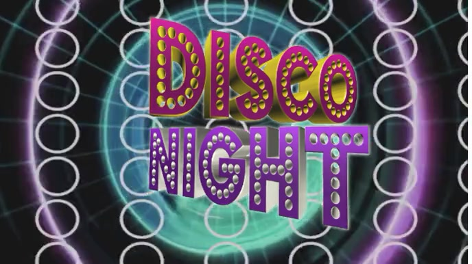 Dj Disco night Digital na Display (16:9) template