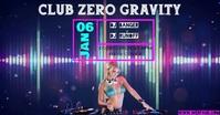DJ Event Sampul Acara Facebook template