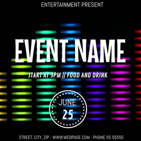 Dj Event party video flyer template
