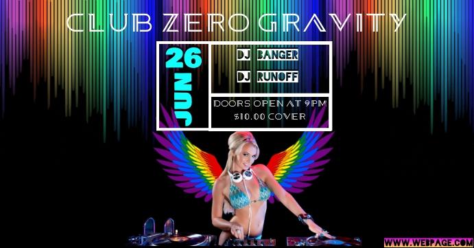 DJ Event Pride Sampul Acara Facebook template