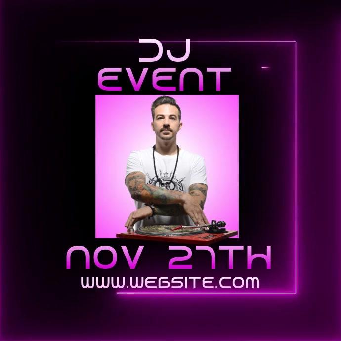 DJ event video digital ad Ilogo template