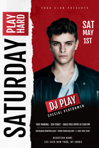 Dj Flyer Template Spanduk 4' × 6'