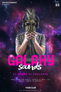 Dj galaxy Sounds Party Flyer Template