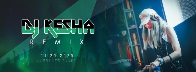 DJ KESHA REMIX DJ Facebook Cover Photo template
