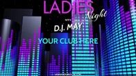 DJ LADIES NIGHT VERSION 2 Digitale display (16:9) template