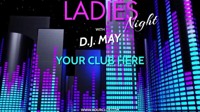 DJ LADIES NIGHT VERSION 2 Digitale Vertoning (16:9) template