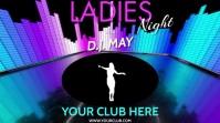 DJ LADIES NIGHT VERSION 3 Digitale display (16:9) template