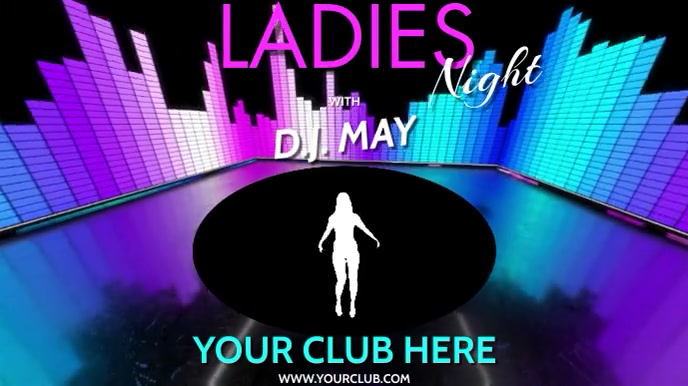 DJ LADIES NIGHT VERSION 3 Digital Display (16:9) template