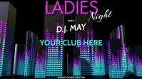 DJ LADIES NIGHT VERSION 3 Digitale display (16:9) template