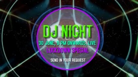 DJ Lockdown party live video graphics