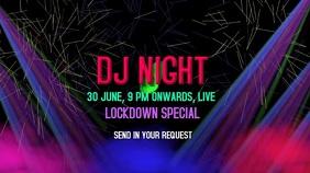 DJ Lockdown party live video graphics