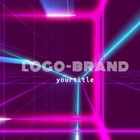 DJ Logo Neon Lights Video Design template
